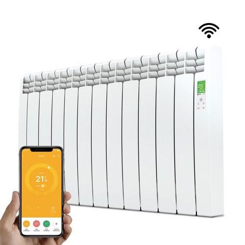 Radiador digital Serie D 11 elementos 1210W blanco conectado de bajo consumo