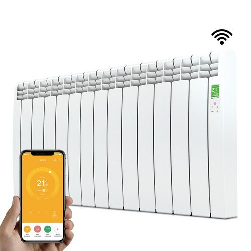 Radiador digital Serie D 13 elementos 1430W blanco conectado de bajo consumo