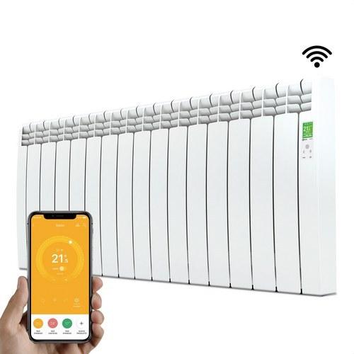 Radiador digital Serie D 15 elementos 1600W blanco conectado de bajo consumo
