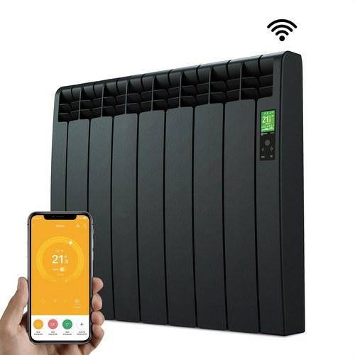 Radiador digital Serie D 7 elementos 770W negro conectado de bajo consumo