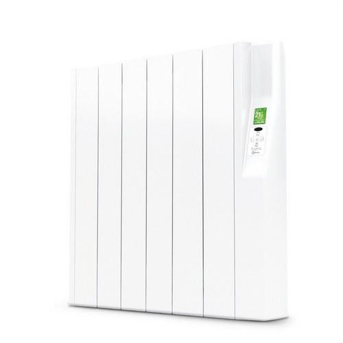 Radiador eléctrico digital SYGMA par 6 elementos 660W blanco de bajo consumo