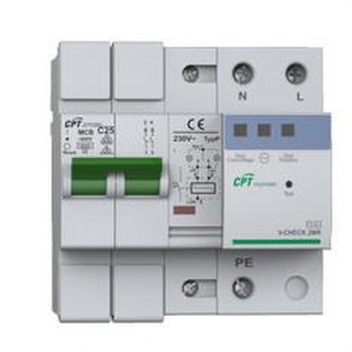 Protector 4 modulos para línea monofásico reconexión automático 25A