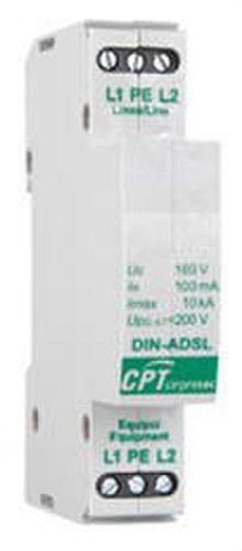 Protector carril din línea ADSL/RTC 10kA