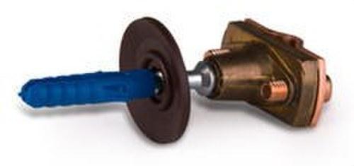 Soporte M-8 bronce con tirafondo para cable 50/70mm2