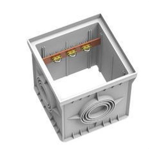 Arqueta registro polipropileno 300x300mm con regleta equipotencial incluída y 3 terminales brida