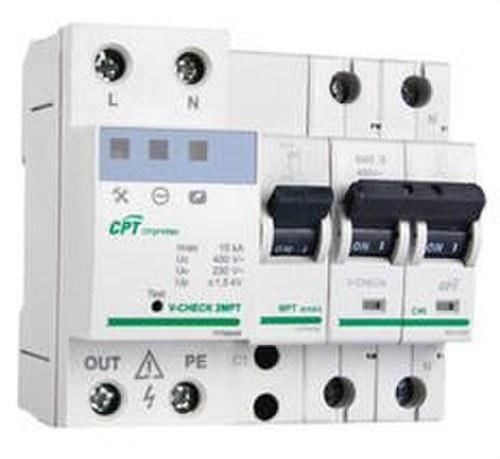 Protector V-CHECK 2MPT-40 para línea monofásico