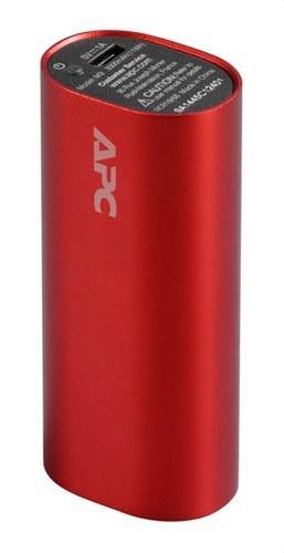 Cargador portátil móvil pack 3000mAh Li-ion rojo