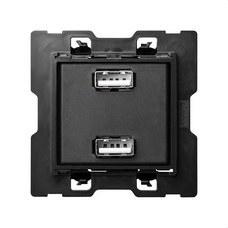 SIMON 10000381-039 Cargador SIMON 100 USB doble 5V DC 2,1A 230V tornillo