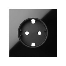 SIMON 10000041-138 Tapa para base enchufe schuko Simon 100 negro