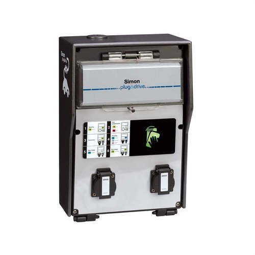 Caja recarga IP54 schuko con RFID SIN medidor