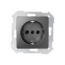 SIMON 8200432-096 Base de enchufe SIMON 82 schuko con embornamiento tornillo+tapa 16A titanio
