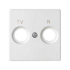 SIMON 8200053-090 Placa SIMON 82 toma R-TV blanco mate