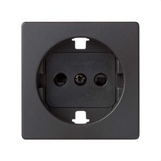 SIMON 8200041-098 Tapa para base de enchufe schuko Simon 82 negro mate