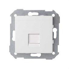 SIMON 8200005-090 Placa v&d universal plana c/g polvo para 1 RJ45 Simon 82 blanco mate
