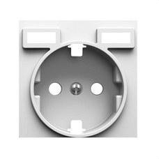 SIMON 8200049-090 Tapa para base de enchufe schuko Simon 82 con 2 bocas carga USB 2.1A tipo A blanco mate