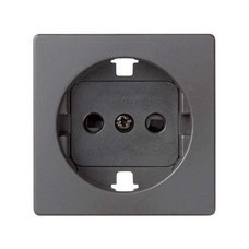 SIMON 8200041-096 Tapa SIMON 82 para base de enchufe schuko titanio