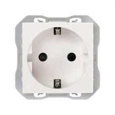 SIMON 20000432-090 Base de enchufe SIMON 270 schuko con embornamiento por tornillo blanco