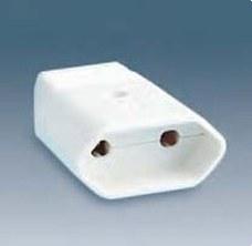 SIMON 00165-31 Base enchufe móvil con dispositivo de seguridad 2P 10A 250V blanco