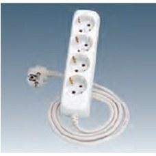 SIMON 10414-31 Base cuádruple TT lateral+conexión