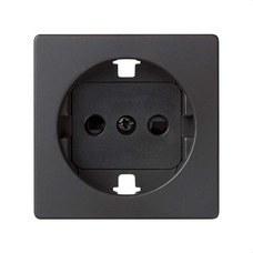 SIMON 82041-38 Tapa enchufe 2P+toma tierra lateral+seguridad Simon 82 grafito