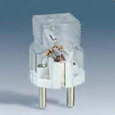 SIMON 04132-61 Clavija de enchufe 2P+TT lateral schuko 16A 250V bipolar con indicador luminoso de tensión