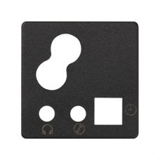 SIMON 05012-38 Tapa con mando digital 05212-39 grafito