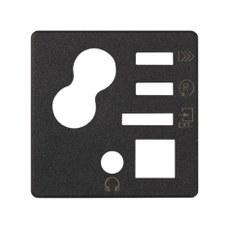 SIMON 05022-38 Tapa con mando digital 05222-39 grafito