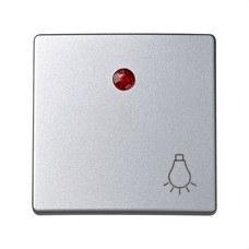 SIMON 73016-63 Tecla pulsador luz SIMON 73 LOFT con luminoso aluminio