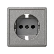 SIMON 2705041-063 Tapa enchufe Simon 27 scudo gris esmeril