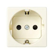 SIMON 27432-62 Base SIMON 27 2P TT lateral schuko con obturador de seguridad marfil