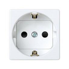 SIMON 27472-65 Base SIMON 27 2P TT lateral schuko con obturador de seguridad blanco nieve