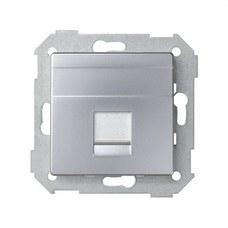 SIMON 82005-33 Adaptador Simon 82 con 1 conector RJ-AMP aluminio mate