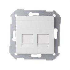 SIMON 82006-30 Adaptador 2 conectores RJ-AMP Simon 82 blanco nieve