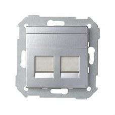 SIMON 82006-33 Adaptador 2 conectores RJ-AMP Simon 82 aluminio mate