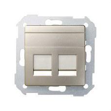 SIMON 82006-34 Adaptador 2 conectores RJ-AMP Simon 82 cava mate