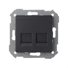 SIMON 82006-38 Adaptador 2 conectores RJ-AMP Simon 82 grafito