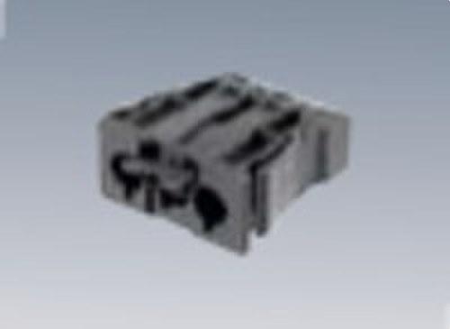 Conector rápido empotrar Macho 3P gris grafito