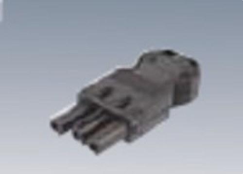 Conector rápido aéreo hembra 3P rojo