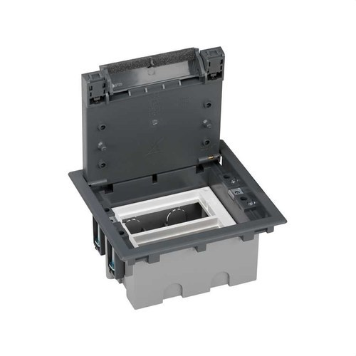Caja suelo 70mm 2 módulos 500 CIMA gris