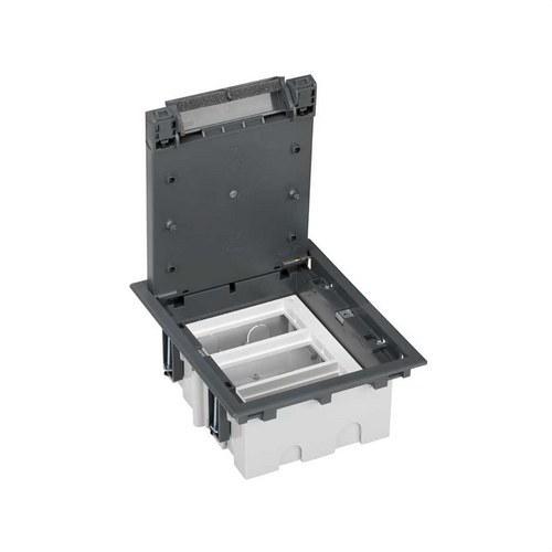 Caja suelo 70mm 3 módulos 500 CIMA gris