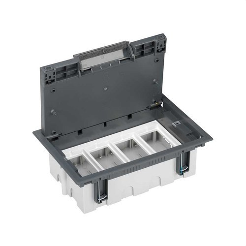 Caja suelo 70mm 4 módulos 500 CIMA gris