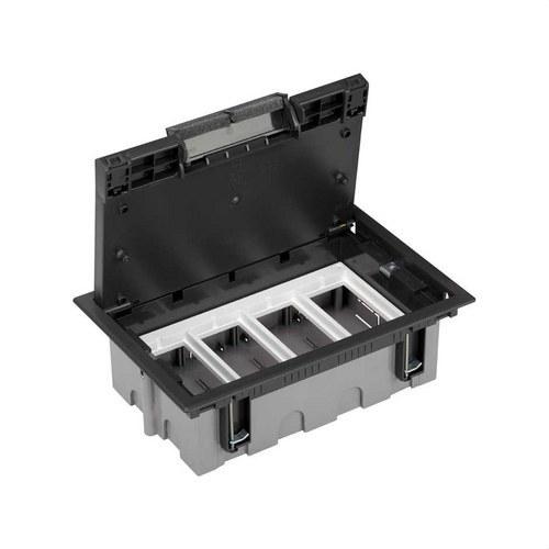 Caja suelo 70mm 4 módulos 500 CIMA grafito