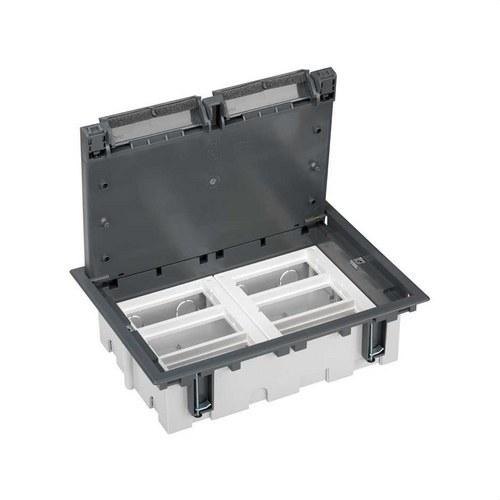 Caja suelo 70mm 6 módulos 500 CIMA gris