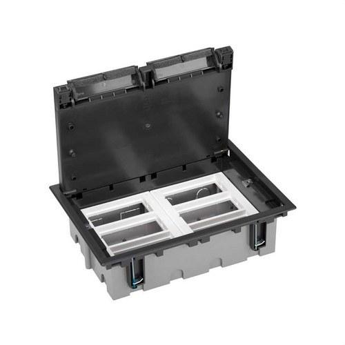 Caja suelo 70mm 6 módulos 500 CIMA grafito