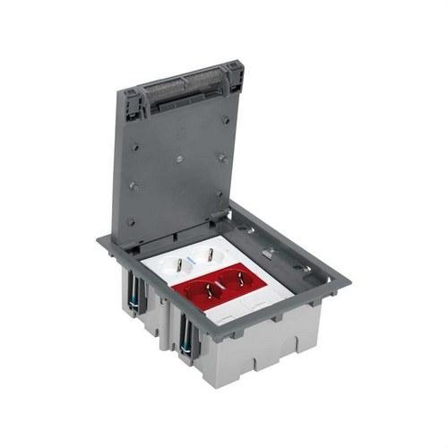 Kit suelo técnico 3 módulos SAI para 2 RJ45 blanco