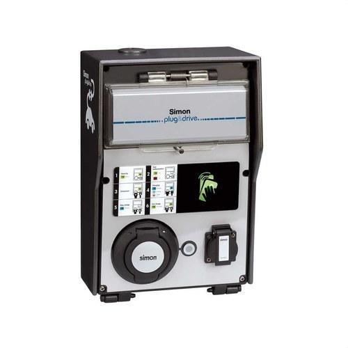 Caja recarga básica 2 tomas con identificadora RFID