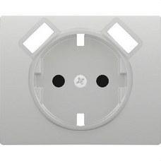 BJC 18724-USB-MA Tapa base enchufe seguridad 2 USB serie Iris aluminio mercurio