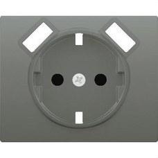 BJC 18724-USB-AN Tapa base enchufe seguridad 2 USB serie Iris acero neptuno