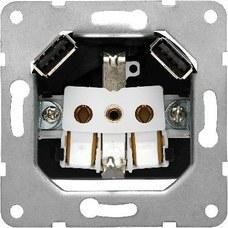 BJC 18524-USB Base enchufe Schuko con doble cargador USB 2.4A