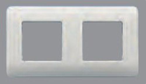 Placa 4 elementos con garras y bastidor Sol Teide en blanco